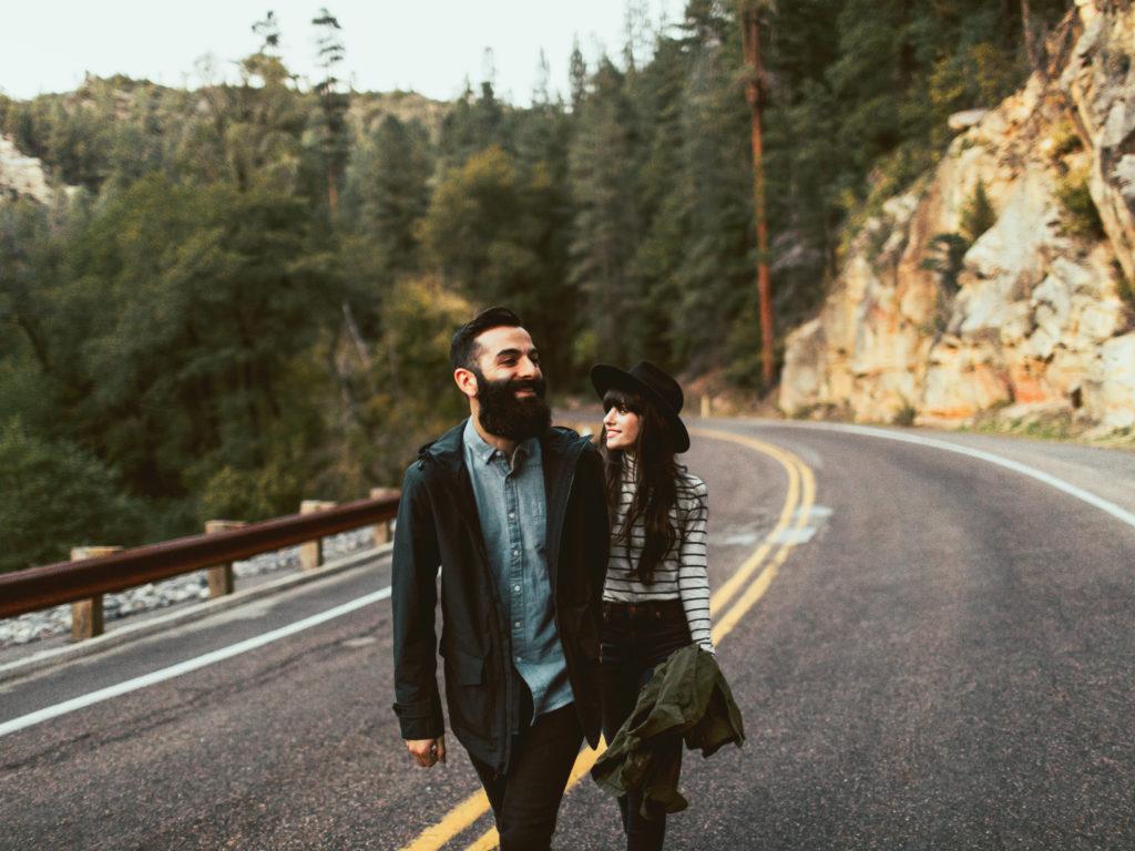 foto romântica estrada