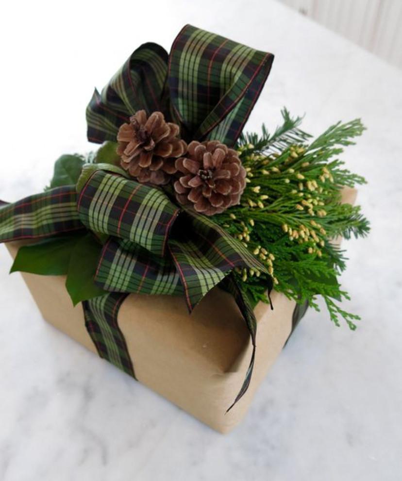 Como embrulhar os presentes de natal - inspirações