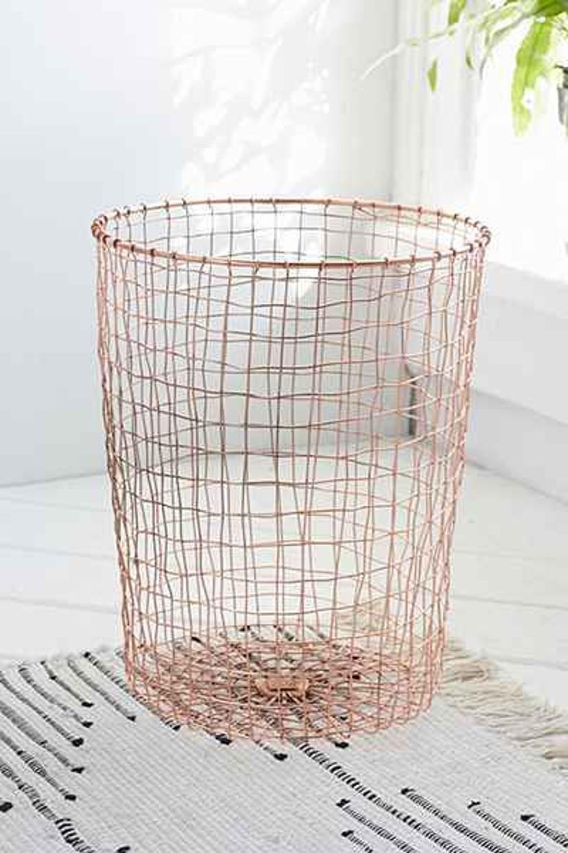 decoração - lixeira de cobre