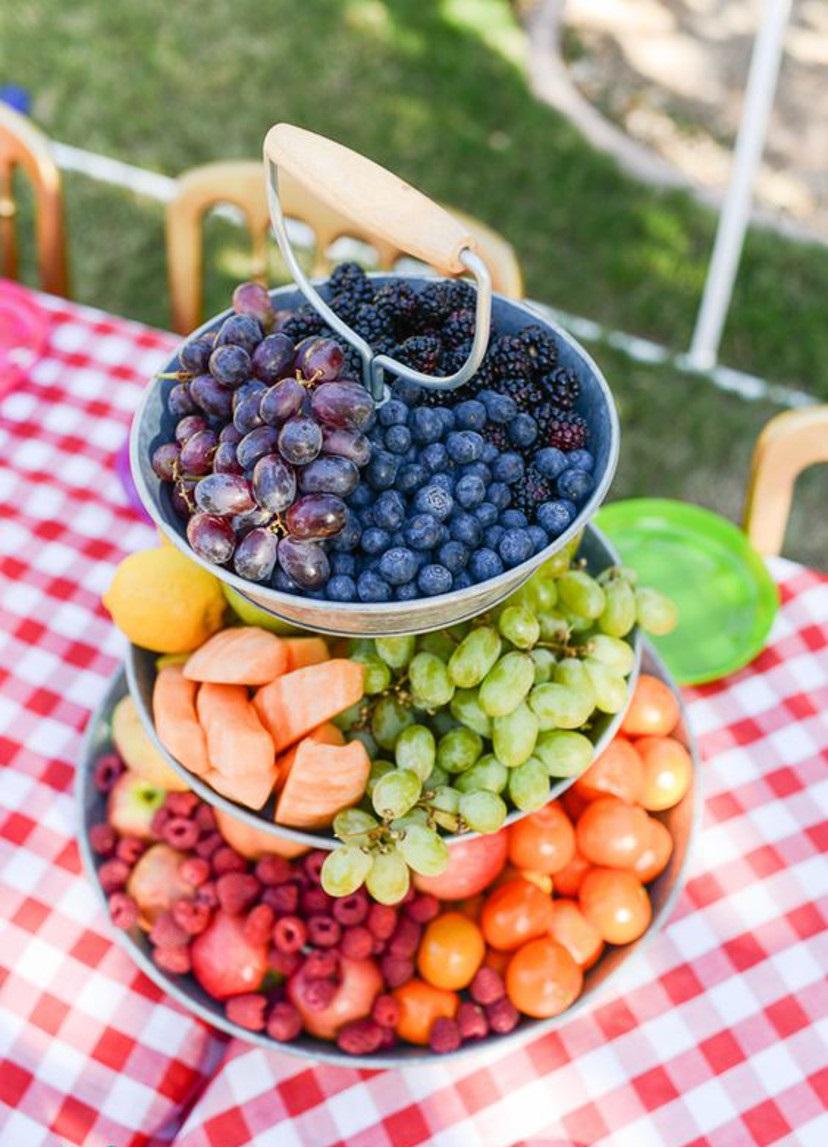 arranjo com frutas