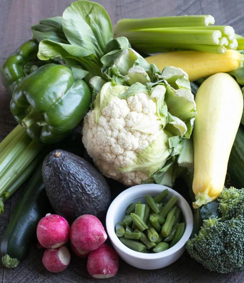 preparo de legumes e verduras