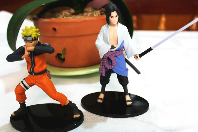 Action Figure Naruto e Sasuke