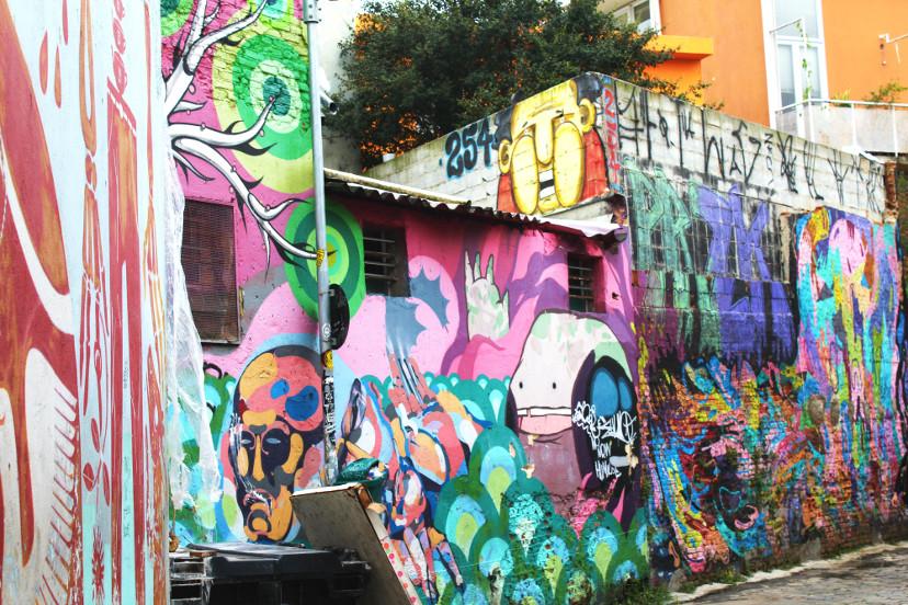arte - grafites na cidade de São Paulo - Beco do Batman