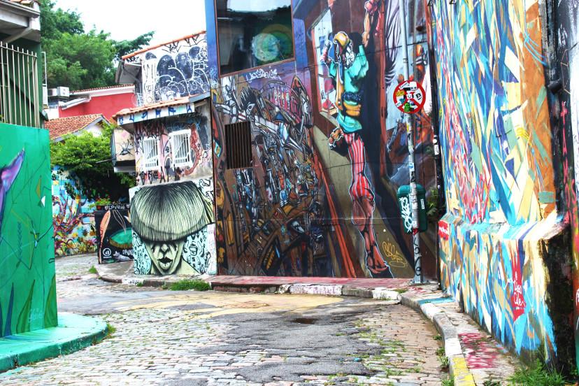 parede grafitada