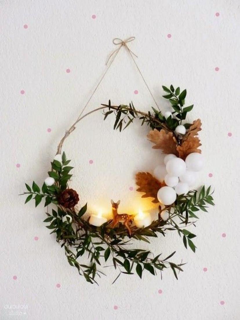 Como decorar com guirlanda minimalista no natal