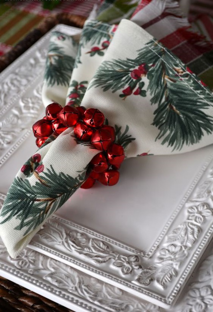 Decoração com guardanapos natalinos