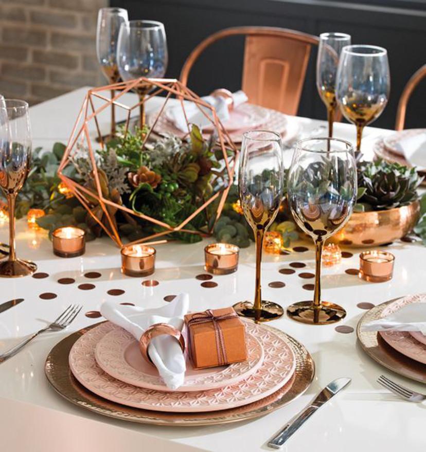 Suculentas na decoração da mesa de natal