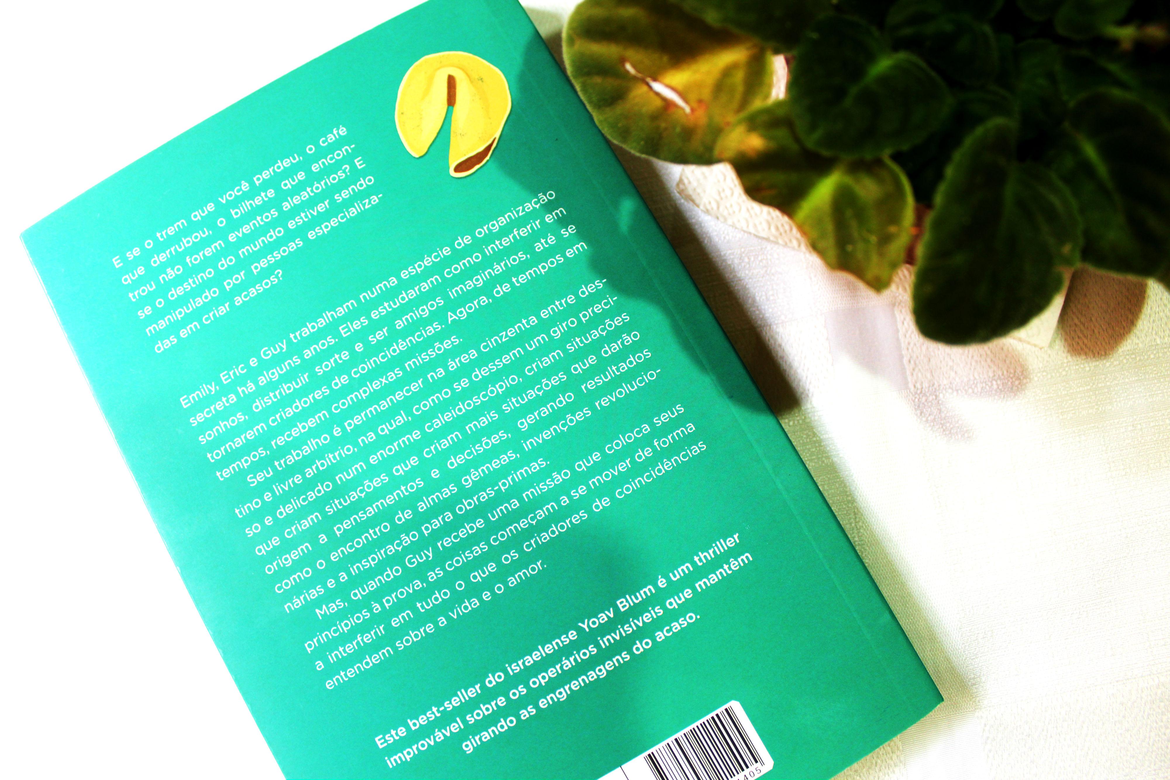 Contra capa do livro Os criadores de coincidências