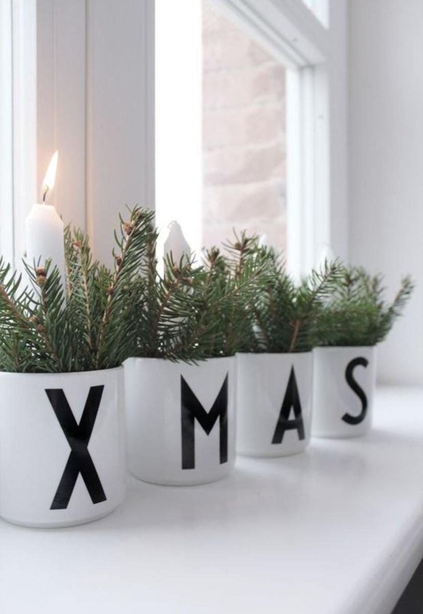 Canecas decorativas para o natal