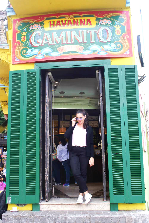 Havanna no bairro El Caminito -Buenos Aires
