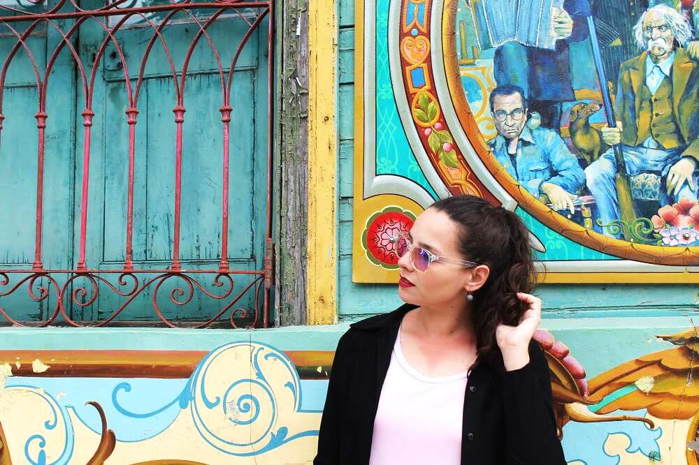Paredes coloridas no bairro de La Boca - El Caminito
