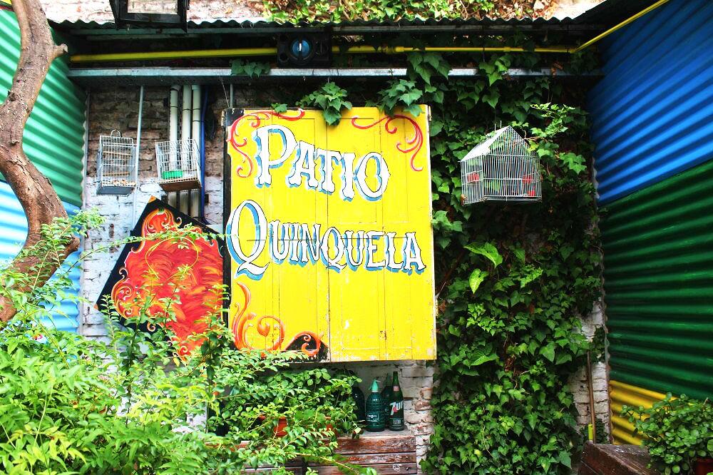 Placas coloridas em El Caminito - Buenos Aires