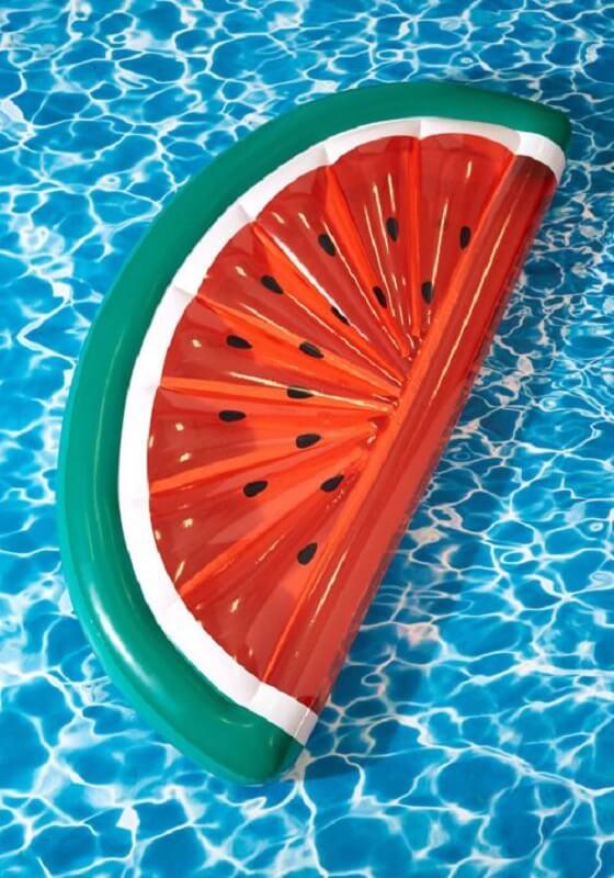 Boia de piscina de melancia