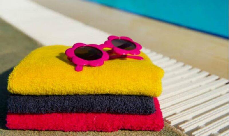 Toalhas para festa na piscina