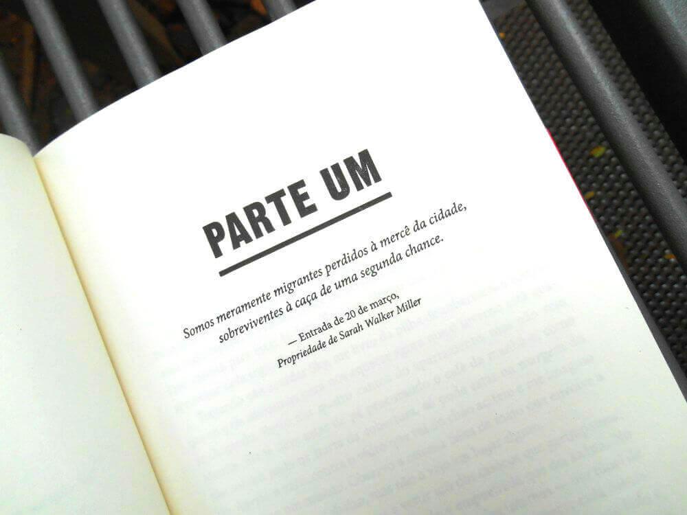 Página do livro - Cidade de Selvagens