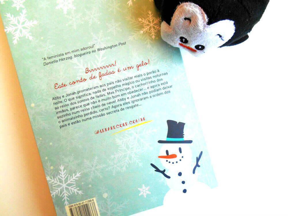 Contra capa do livro - Frio Congelante