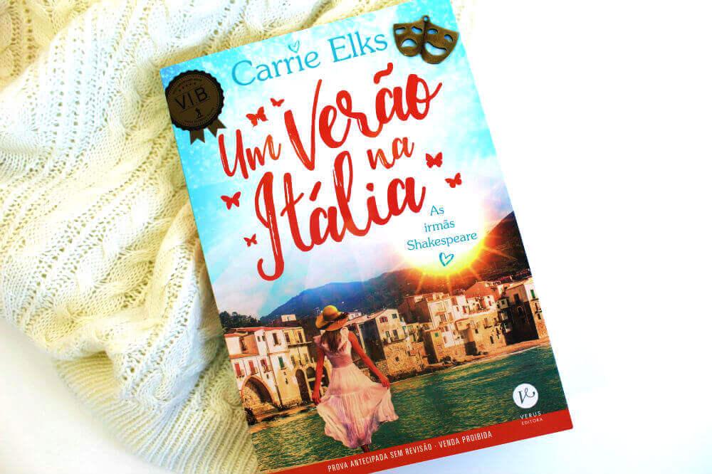 capa do livro - Um verão na Itália de Carrie Elks
