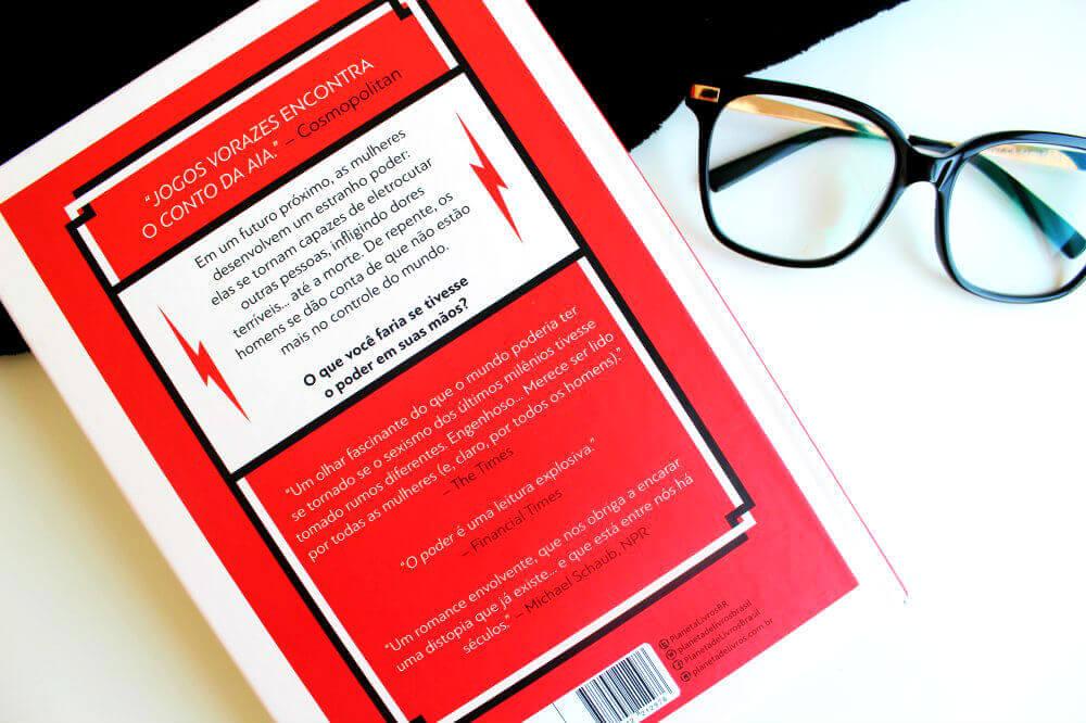 Contra capa livro O Poder de Naomi Alderman