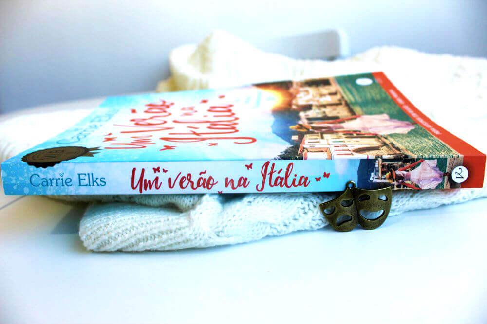 lombada do livro - um verão na itália