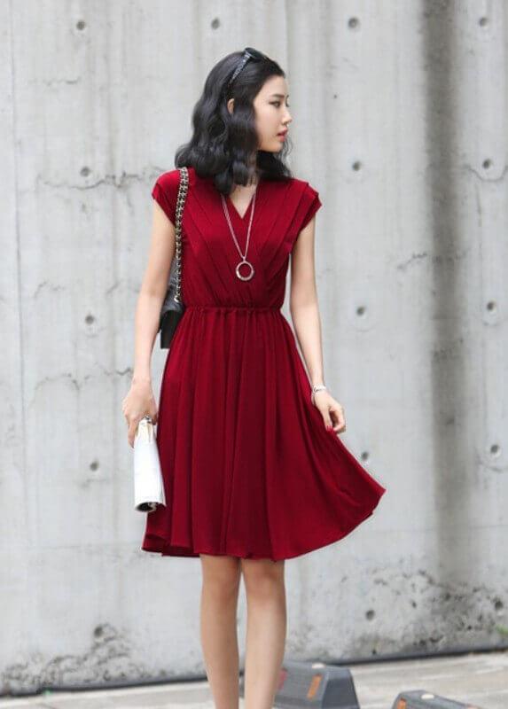 look vestido vermelho princesa