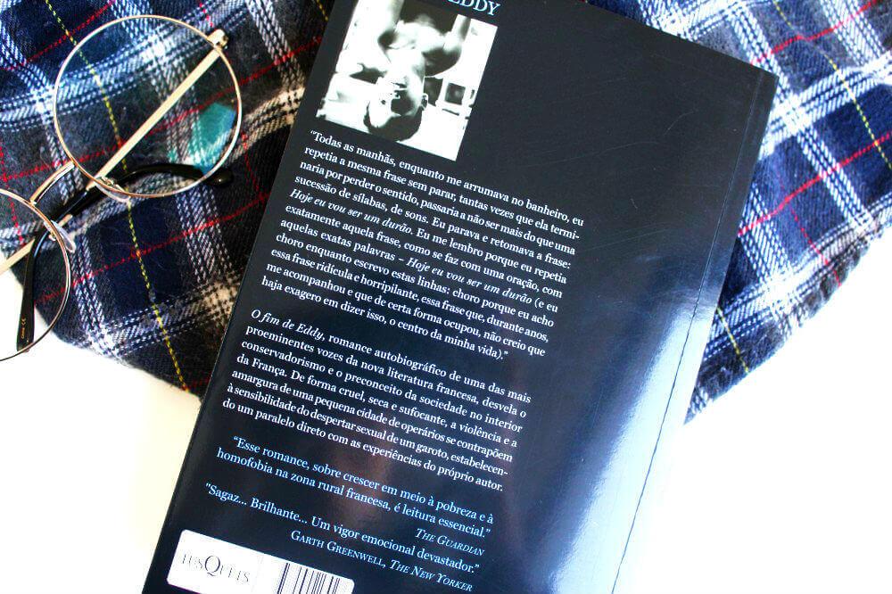 contra-capa do livro - o fim de eddy