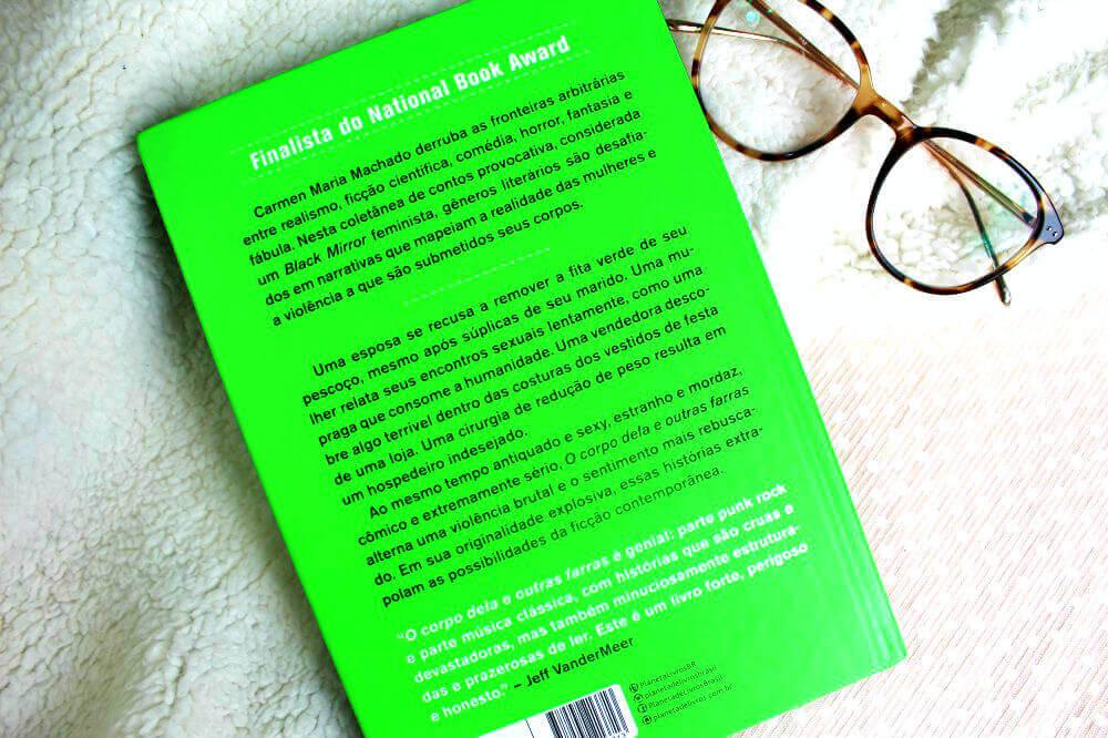 contra-capa do livro - O corpo dela e outras farras