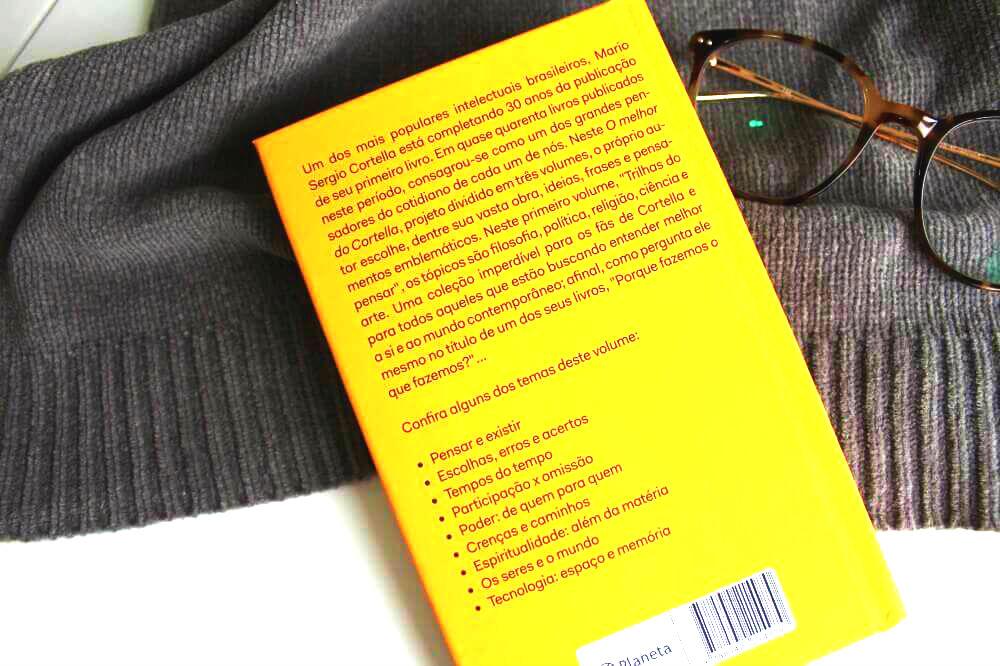 Contra capa livro O melhor do Cortella