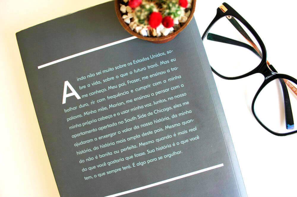 contra-capa livro - minha história - michelle obama