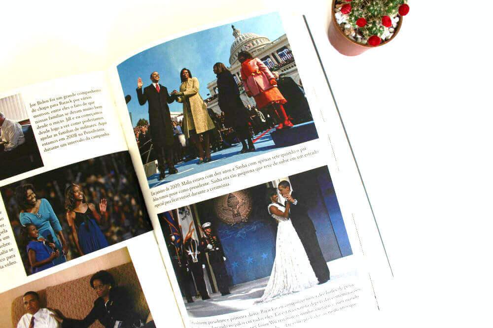 fotos livro - minha história - michelle obama
